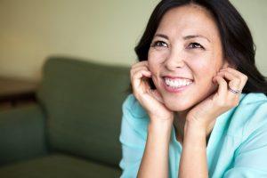 healthy smile, showing off attractive teeth